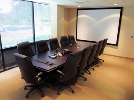 Ophthalmology software training conference room at EyeMD